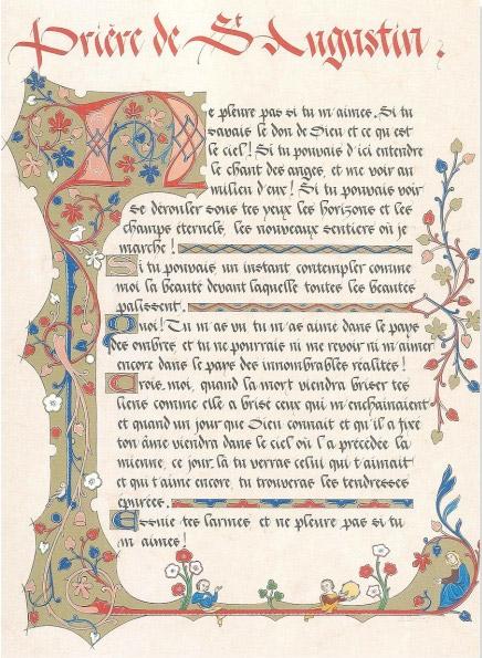 prière de St-augustin